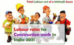 Labour rates for construction work in India 2021