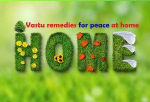 Vastu remedies for peace at home